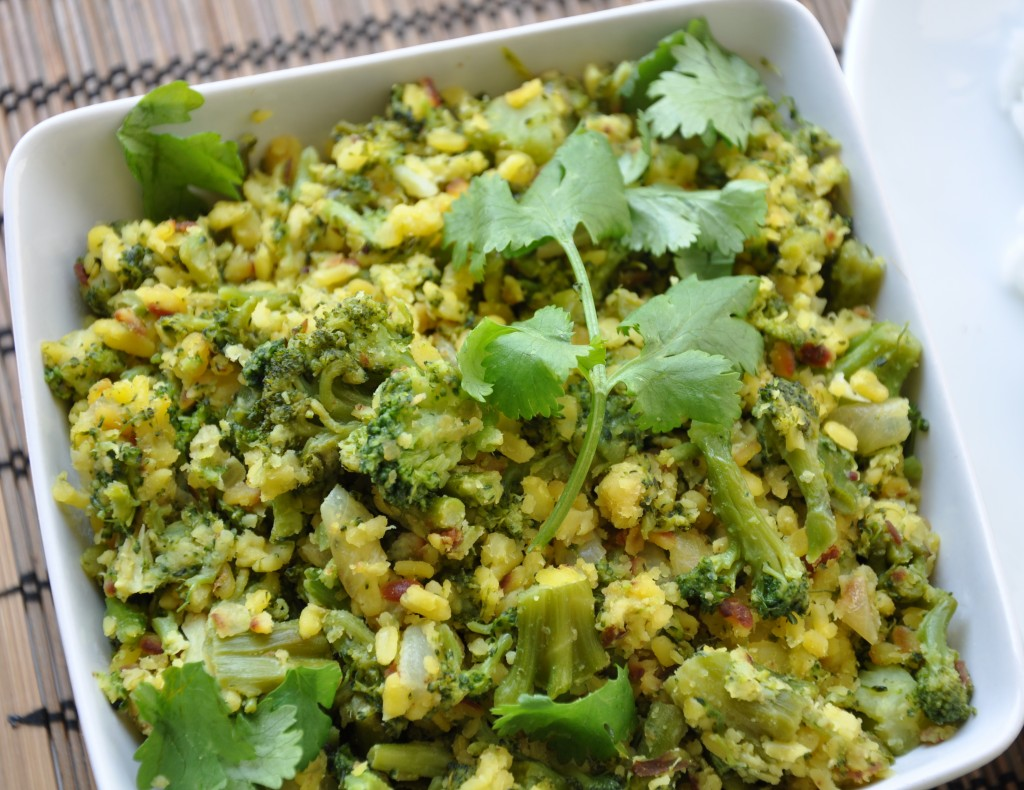 Broccoli Mooong Dal Stir fry