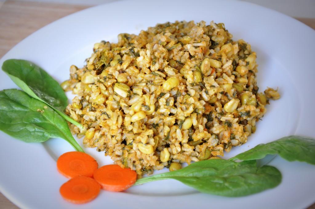Brown rice vegetable pulav