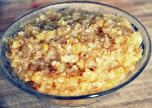 Bulgar wheat Sweet Pongal top view