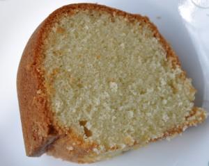 Pound cake slice