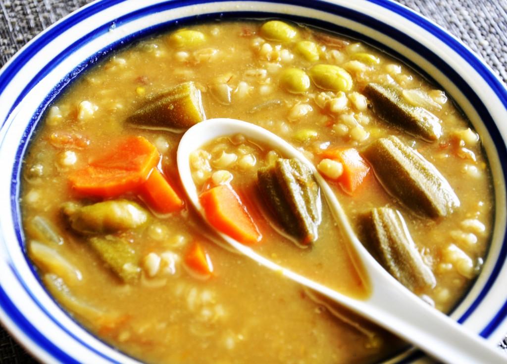 Okra Barley Dal Stew