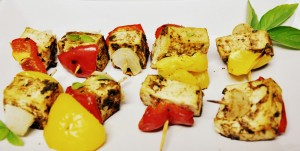 Paneer tikka after baking