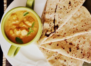 Paneer tikka gravy served with chapathi