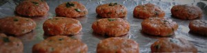 Turkey Patties before baking