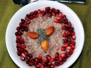 Ragi+Oats+Poridge with fruits and nuts
