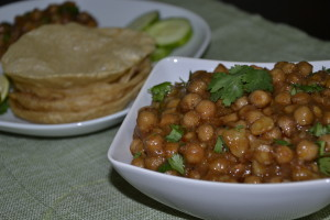 Aloo chole without onion and garlic