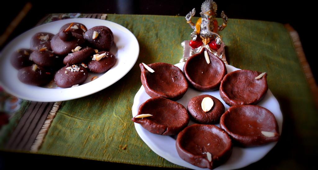 Chocolate Peda diyas