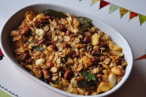 Oats and cornflakes Chiwda